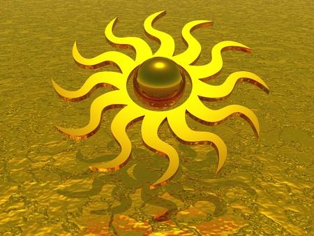 god 3d: 3D sun symbol Stock Photo