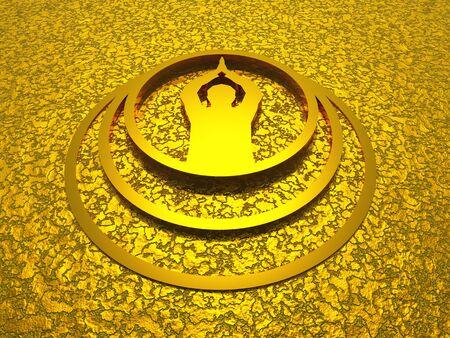 ohm symbol: 3D prayer symbol