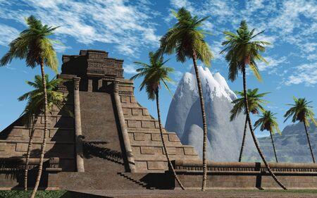 spirituell: 3D maya temple