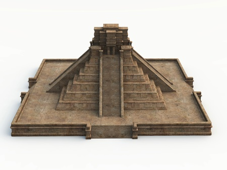 abstractly: 3D maya temple