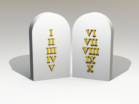 3d tablet with roman letters