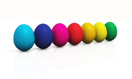 abstractly: 3D eggs in a row