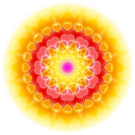 oneness: simbolo astratto per amore