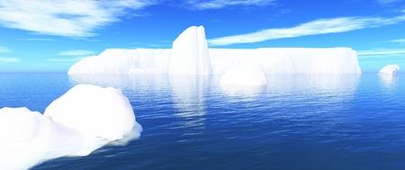 white iceberg in blue water photo