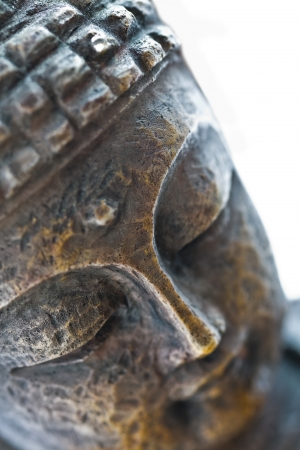 buddha head: brown buddha sculpture