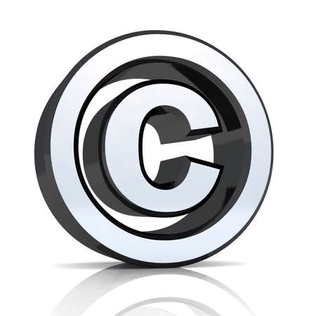 abstractly: 3d symbol for copyright Stock Photo