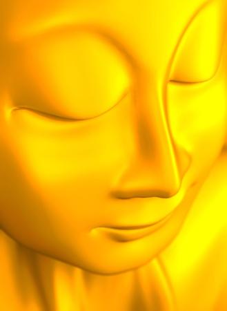 golden buddha sculpture Stock Photo - 8640527