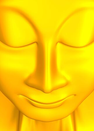 golden buddha sculpture Stock Photo - 8640525