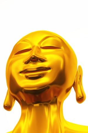 golden buddha sculpture Stock Photo - 8640538
