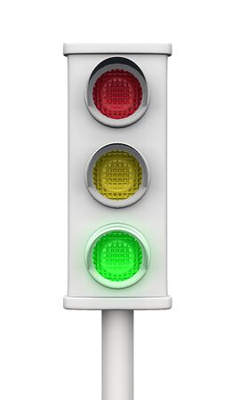 traffic lights isolated Stock Photo - 8730477