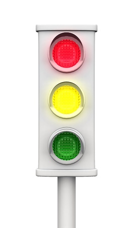 traffic lights isolated Stock Photo