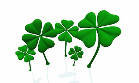 st pattys: a group of green clover sheets