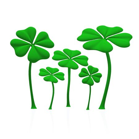 saint pattys day: a group of green clover sheets