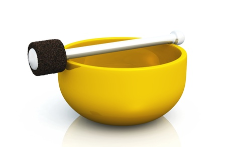 golden singing bowl Stock Photo - 8730544