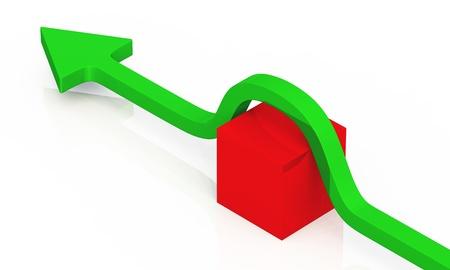 3D arrow concept photo