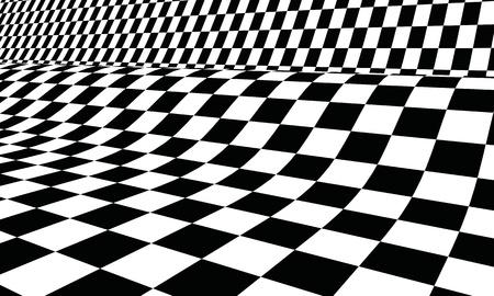 tablero de ajedrez: Bandera de carreras 3D