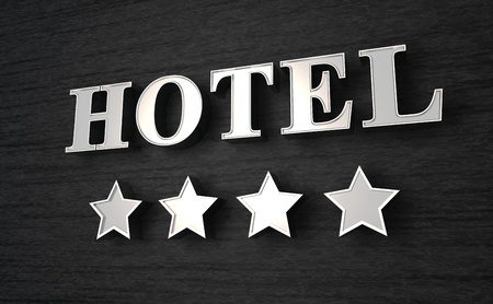 hotel sign: 3D Hotel sign Stock Photo