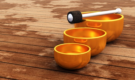 3D singing bowls Stock Photo - 8730634