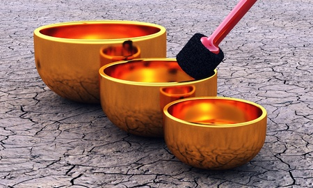 3D singing bowls Stock Photo - 8730635
