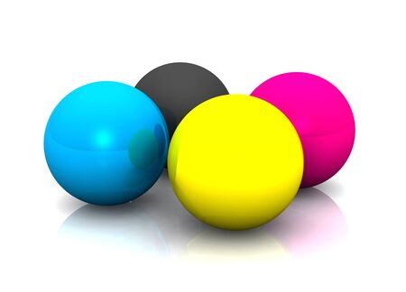 colorful balls for printing Stock Photo