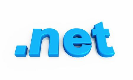 webhosting: blue 3D letters on white background Stock Photo