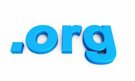 webhoster: blue 3D letters on white background Stock Photo