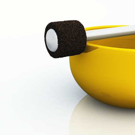 golden singing bowl Stock Photo - 8763592
