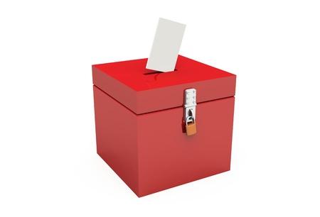 voting box: Voto scatola rossa Archivio Fotografico