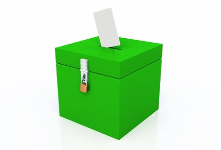 voting box green Stock Photo - 8882842