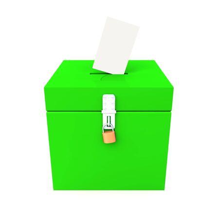 voting box: Voto scatola verde