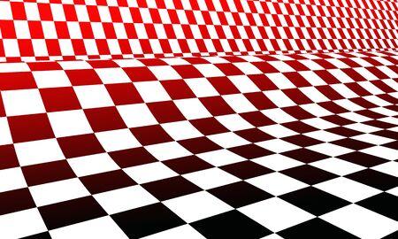 tablero de ajedrez: negro de la bandera roja de carreras blanco