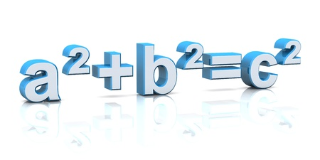 formulas: 3d letters on white background Stock Photo