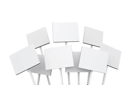 white signs on white background photo