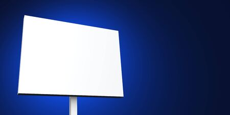 white sign on blue background photo