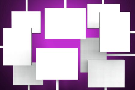 white tablets on purple background photo
