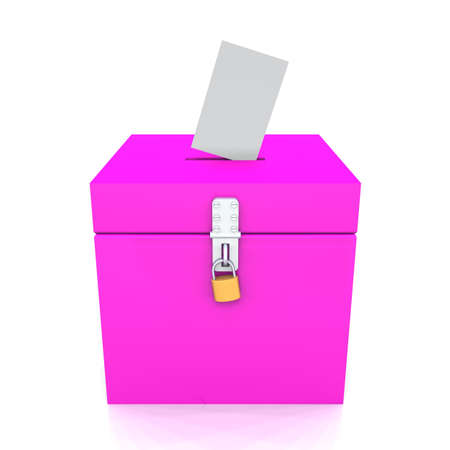3d box for voting Stock Photo - 8882872