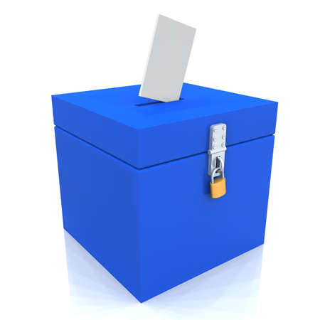 blue box for voting Stock Photo - 8882873