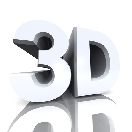 computer animation: 3d letters silver on white