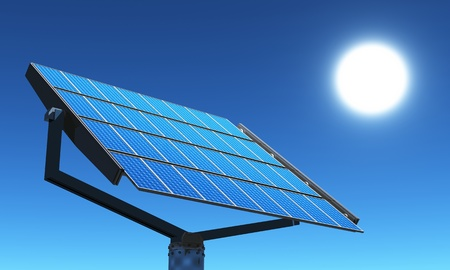 solar cells and blue sky photo