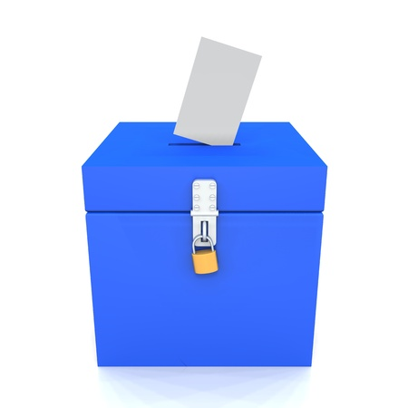 voting box blue Stock Photo - 8882923