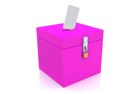 voting box pink Stock Photo - 8882905