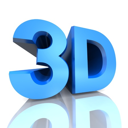 3d letters on white background photo