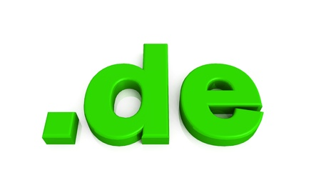 green 3d domain on white background Stock Photo
