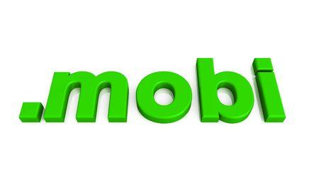 green 3d domain on white background Stock Photo