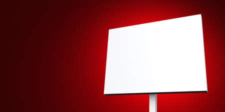 writable: white sign on red background Stock Photo