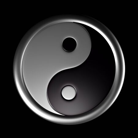metaphysic: 3d symbol yin and yang