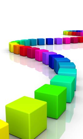 colorful 3d cubes on white background Stock Photo - 8994591
