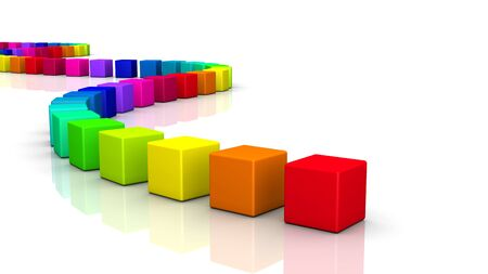 colorful 3d cubes on white background Stock Photo - 8994588