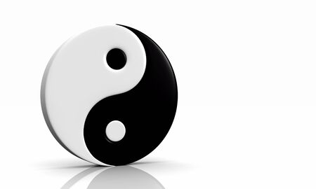 3d symbol yin and yang Stock Photo - 8994580