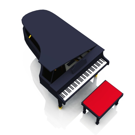 unfold: black piano on stage